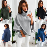 Women Loose Batwing Wool Poncho Winter Warm Coat Jacket Cloak Cape Parka Outwear - Sell-off