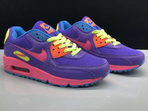 Women's Nike Air Max 90 Running Shoes Lavender Pink Volt - Sell-off