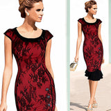 Elegant Formal Lace Button Patchwork Tunic Wear - Sell-off