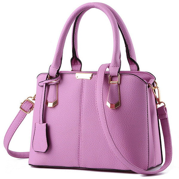 Herald Fashion PU Leather Top-handle Women Handbag Solid Ladies Shoulder Bag - Sell-off
