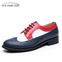Genuine leather big woman designer vintage flats shoes - Sell-off