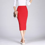 Long Pencil Skirts Women Sexy Slim Package Hip Maxi Skirt Lady Winter Sexy Chic Wool Rib Knit midi Skirt - Sell-off