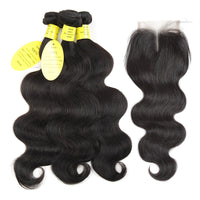 Hair Products Brazilian Body Wave With Closure - Sell-off