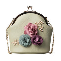 Women Fashion Stereo Flowers Shoulder Bag Ladies Small Vintage Tote Bag - Sell-off