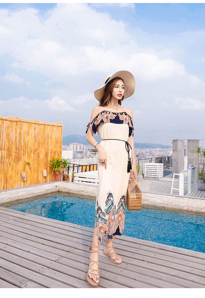 Summer Fashion Elegant Lady Women Long Dress