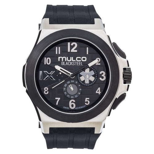 Mulco Blacksteel - Silver on Black