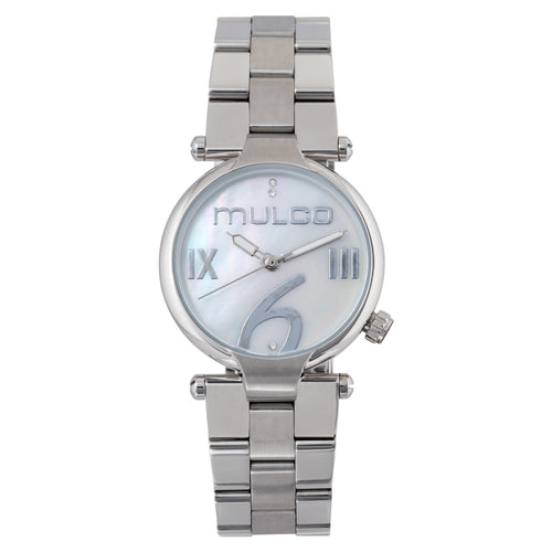 Mulco Mini Metal - White on Silver