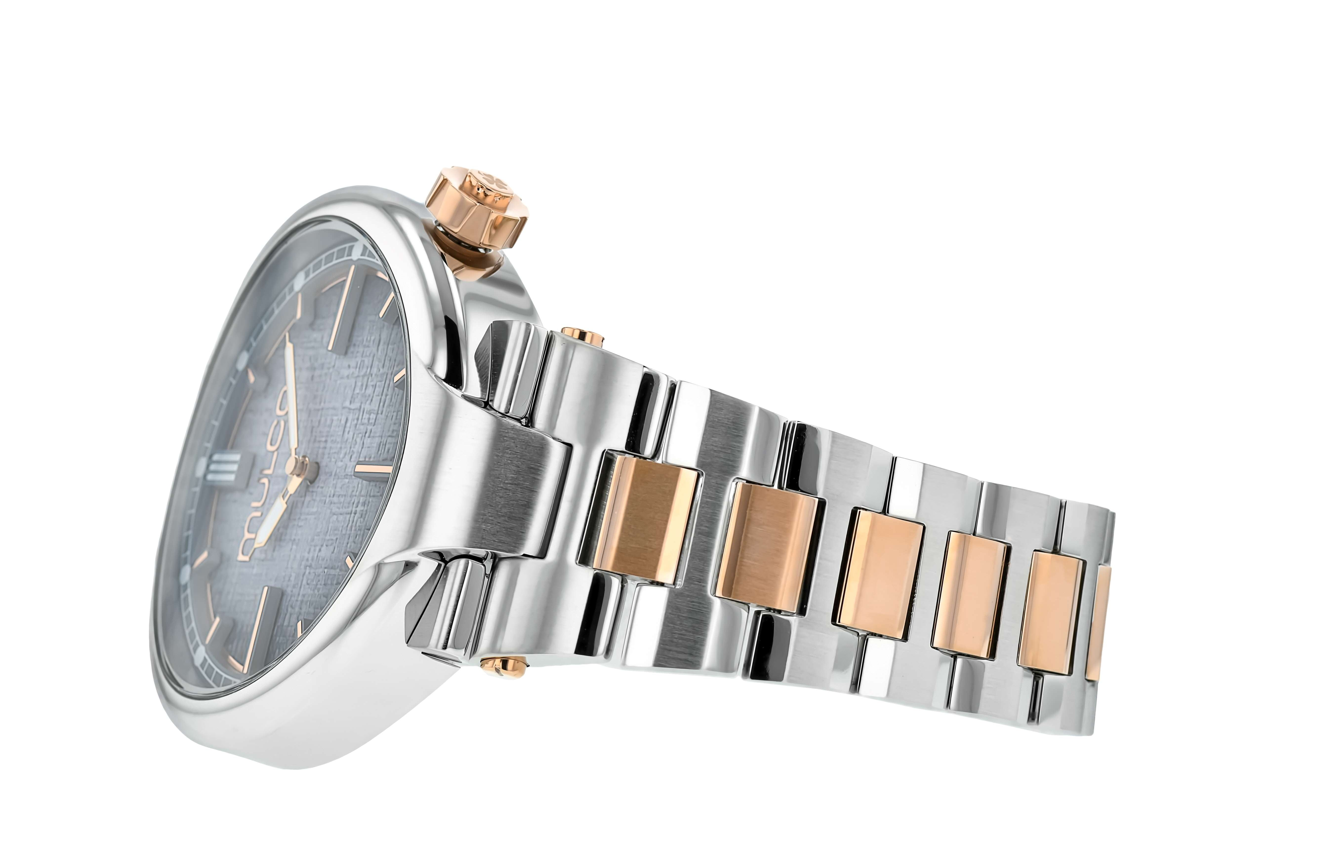 Mulco Slim Metal - Blue on Silver & Rose Gold