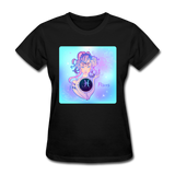 Pisces Lady on Blue - Women's - black