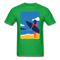 Lady with Surf Board - Unisex - bright green