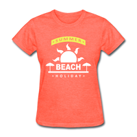 Summer Beach Holiday Design #4 - Women's Tee - heather coral