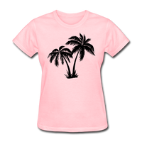 Palm Trees Silhouette - Women's Tee - pink