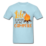 Life is Better Campfire - Men's - powder blue