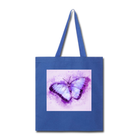 Purple and Blue Sketch Butterfly - Tote - royal blue