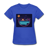 Camping on the Lake - Women's - royal blue