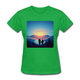 Backpackers at Sunset - Women's - bright green