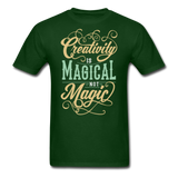 Creativity is Magical not Magic - Men's - forest green