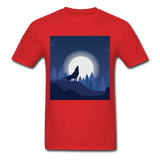 Wolf Howling at the Moon 2 - red