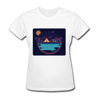 Camping on the Lake - Women's - white