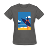 Lady with Surf Board - Women's - charcoal