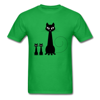 Black Cat Family - Men's - bright green