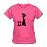 Black Cat Family - Women's - heather pink