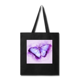 Purple and Blue Sketch Butterfly - Tote - black