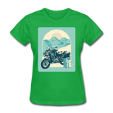 Motorcycle in the Mountains - Women's - bright green