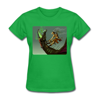 Elf on a Dragon - Women's - bright green