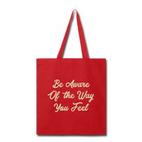 Be Aware - Tote - red