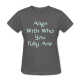 Align With - Ladies - charcoal