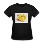 Yellow Rose Watercolor - Women's - black