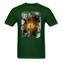 Brown and White Fractal - Unisex - forest green