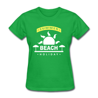Summer Beach Holiday Design #4 - Women's Tee - bright green