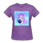 Virgo Lady on Blue - Women's - purple heather