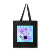 Taurus Lady on Blue - Tote - black