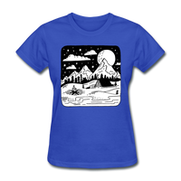 Peaceful Campsite - Women's - royal blue