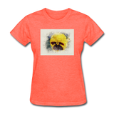 Yellow Pansy Watercolor - Women's - heather coral