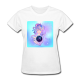 Pisces Lady on Blue - Women's - white