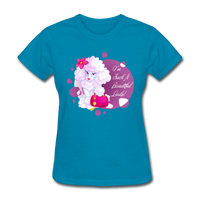 Beautiful Lady Poodle - Women's - turquoise