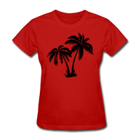 Palm Trees Silhouette - Women's Tee - red