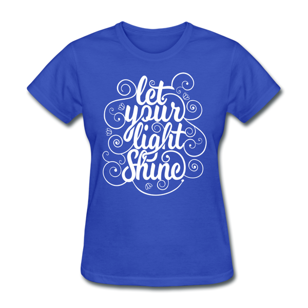 Let Your Light Shine - Women's - royal blue