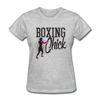 Boxing Chick - Women's - heather gray