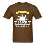 Summer Beach Vacation - Men's Tee - brown