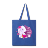 Beautiful Lady Poodle - Tote - royal blue