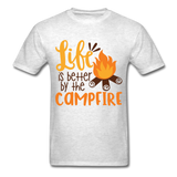 Life is Better Campfire - Men's - light heather grey