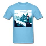 Lady in Pink Hiking - Unisex - aquatic blue