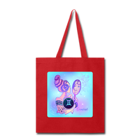 Gemini Lady on Blue - Tote - red