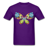 Patterned Butterfly - Men's - purple