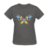 Patterned Butterfly - Women's - charcoal